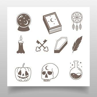 Elegancka linia sztuka logo edytowany szablon prosty projekt