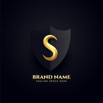 Elegancka litera s logo królewski projekt koncepcji