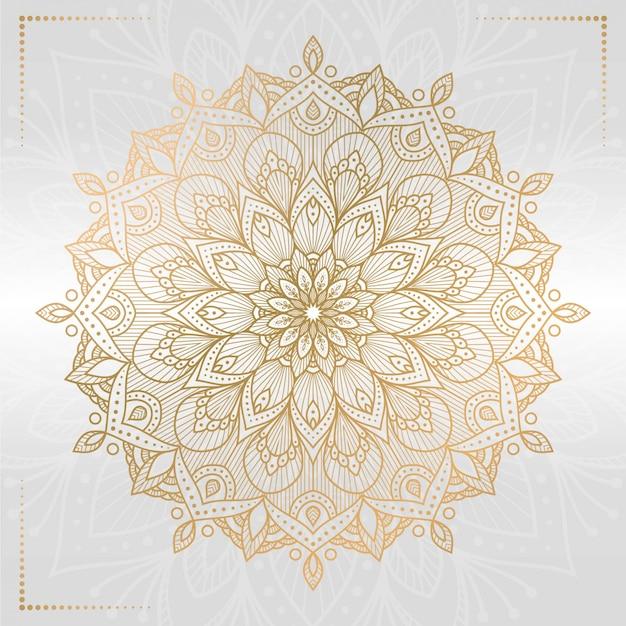 Elegancka mandala z białym tłem