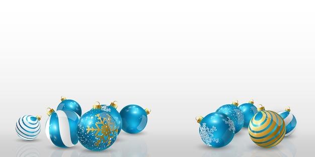 Elegancka niebieska bombka do dekoracji