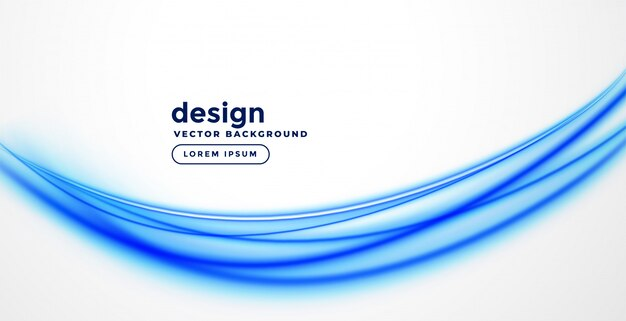Elegancka niebieska prezentacja w kształcie fali