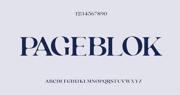 Elegancka, niesamowita czcionka i liczba liter alfabetu. unikalna czcionka szeryfowa.