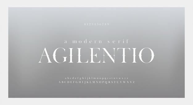 Elegancka, niesamowita czcionka i liczba liter alfabetu