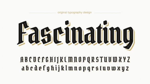 Elegancka niestandardowa czarna typografia