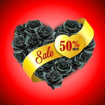 Elegancka poduszka w kształcie serca z akwareli w czarny piątek walentynki