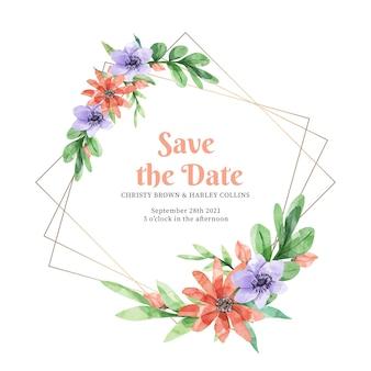 Elegancka rama kwiatowy wesele
