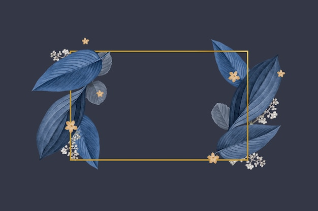 Elegancka rama liści roślin