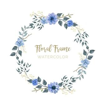 Elegancka ramka kwiatowa