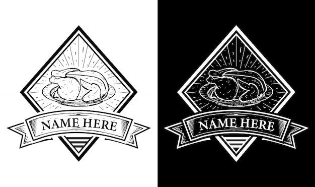 Elegancka restauracja vintage retro odznaka etykieta emblemat logo inspiracja