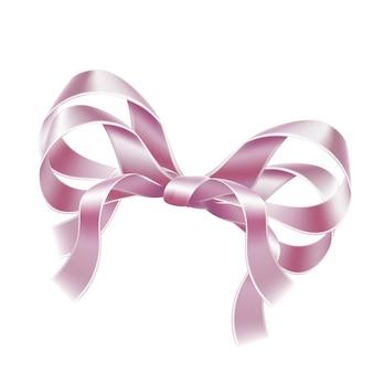 Elegancka różowa wstążka łuk realistyczna