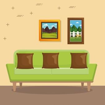 Elegancka scena w salonie