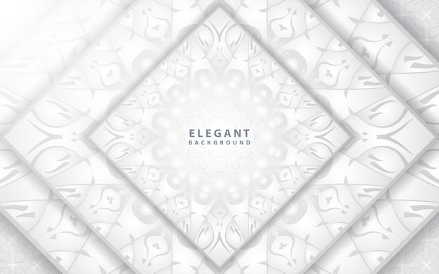 Elegancka srebrna rama z ornamentem mandali