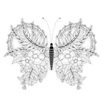 Elegancka strona do kolorowania motyla w wyjątkowym stylu