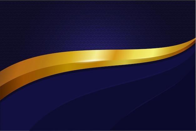 Elegancka tapeta metalowa, stalowa w kolorze granatowo-złotym