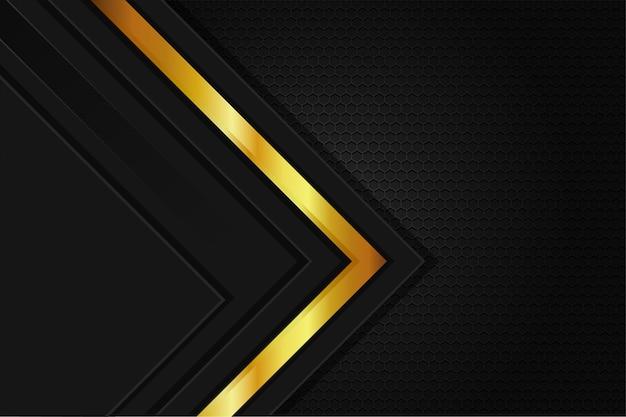 Elegancka tapeta metalowa w tle ze stali w kolorze czarnym złotym