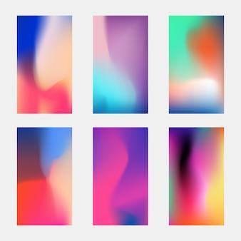 Elegancka tapeta nowoczesnego telefonu. niewyraźne wielokolorowe tła z siatki gradientu