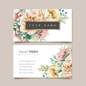 Elegancka wizytówka kwiatowy