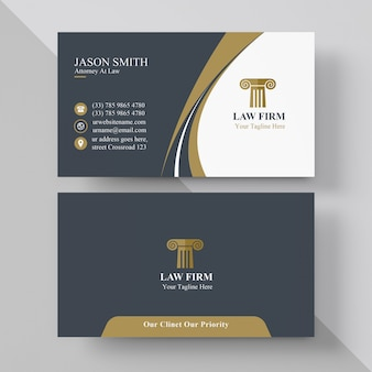Elegancka wizytówka prawnika
