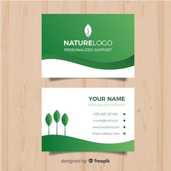 Elegancka wizytówka z naturą lub eco pojęciem