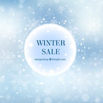 Elegancka zima sprzedaż tło
