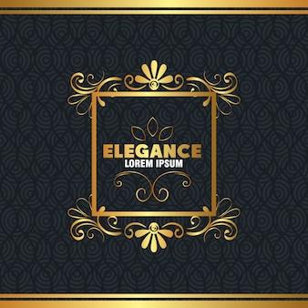 Elegancka złota ramka