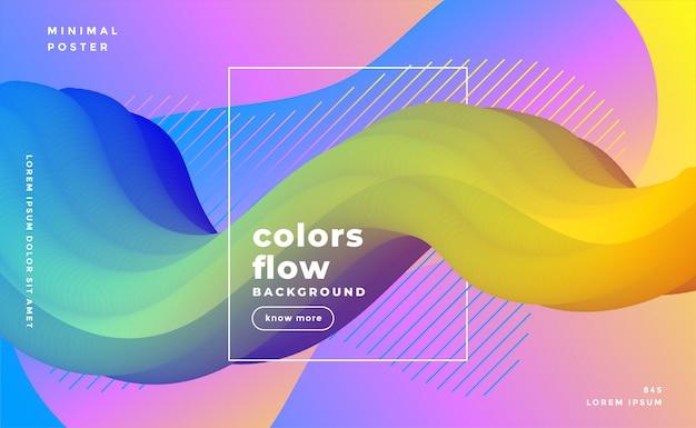 Elegancki abstrakcjonistyczny flyid 3d fala tło