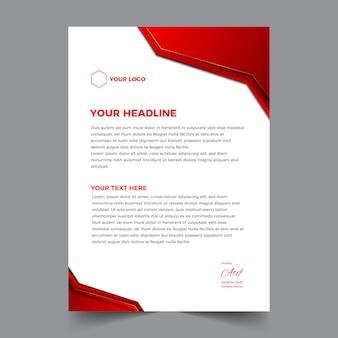 Elegancki, abstrakcyjny i nowoczesny papier firmowy