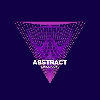 Elegancki Abstrakcyjny Plakat Z Kolorowymi Liniami Na Ciemnym Tle Premium Wektorów