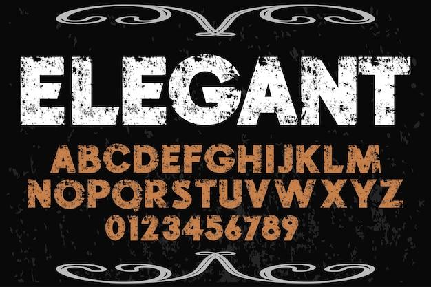 Elegancki alfabet