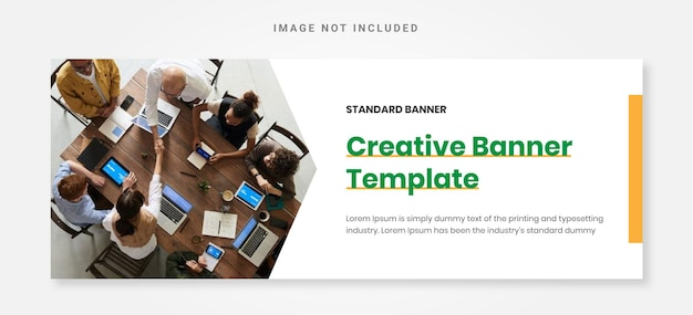 Elegancki biznesowy szablon projektu kreatywnego banera