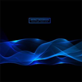 Elegancki błękitny błyszczący falowy tło