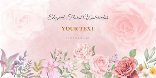Elegancki brzoskwiniowy różowy transparent kwiatowy