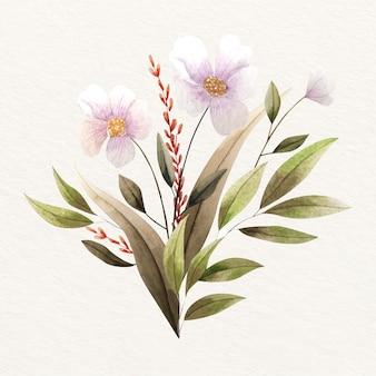 Elegancki bukiet kwiatowy w stylu vintage
