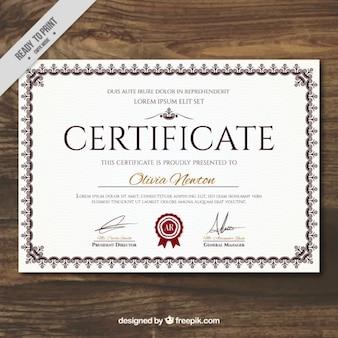 Elegancki certyfikat osiągnięcia