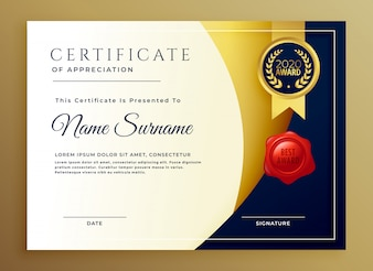 Elegancki certyfikat projektu szablonu appreciatiom