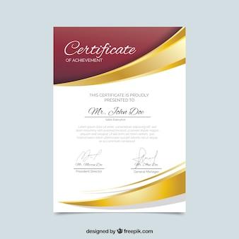 Elegancki certyfikat szablonu