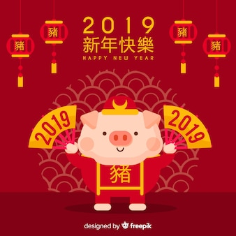 Elegancki chiński nowy rok tło
