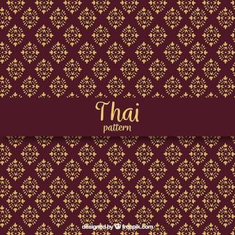 Elegancki ciemny czerwony wzór tajski
