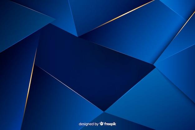 Elegancki ciemny niebieski wielokątne tło