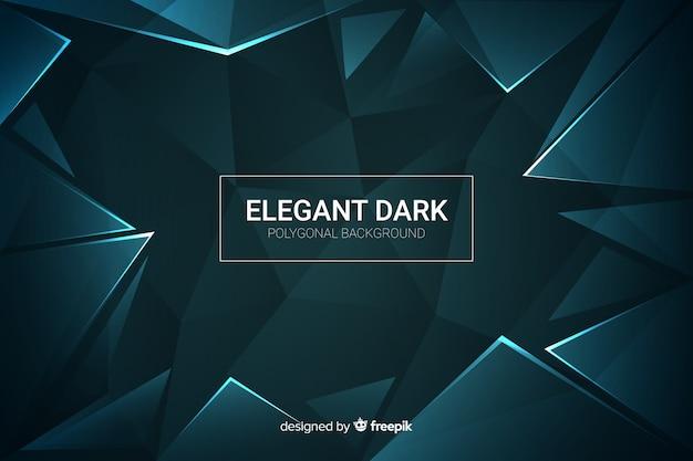 Elegancki ciemny wielokątne tło dekoracyjne