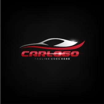 Elegancki design logo samochodu