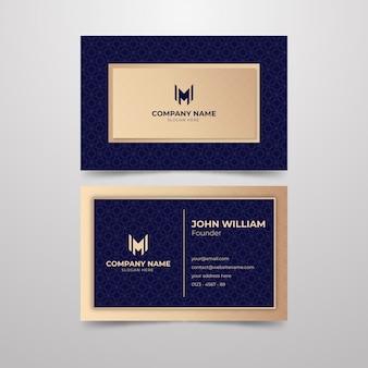 Elegancki design wizytówki