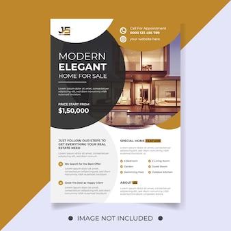 Elegancki dom na sprzedaż szablon ulotki nieruchomości