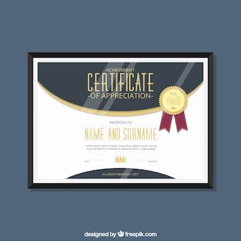 Elegancki dyplom uznania