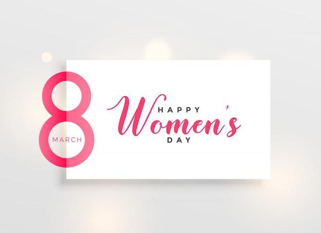 Elegancki dzień kobiet pozdrowienie projekt tła