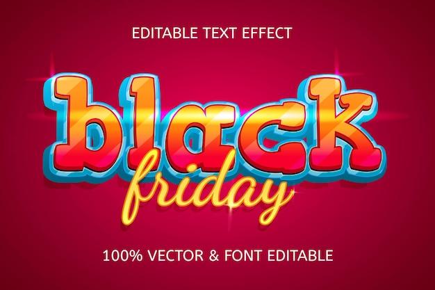 Elegancki, edytowalny efekt tekstowy w stylu czarnego piątku