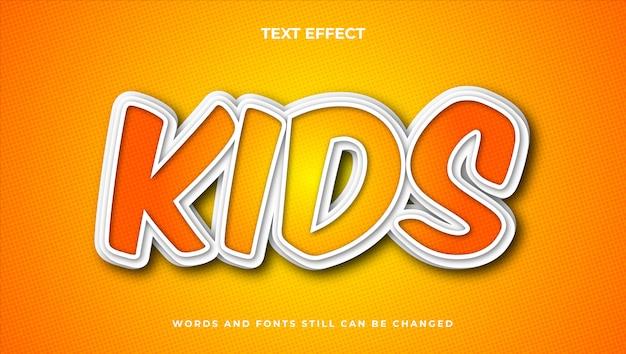 Elegancki edytowalny styl tekstu kreskówkowego, nowoczesny efekt komiksowy tekstu 3d