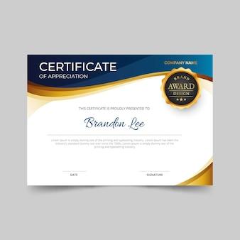 Elegancki, gradientowy certyfikat
