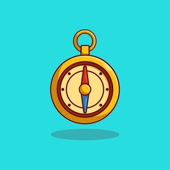 Elegancki i luksusowy projekt ilustracji wektorowych złoty kompas
