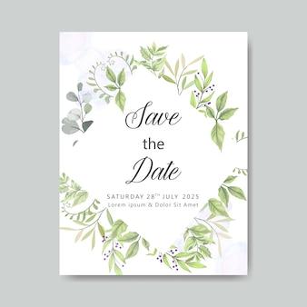 Elegancki i piękny kwiatowy szablon karty ślubu